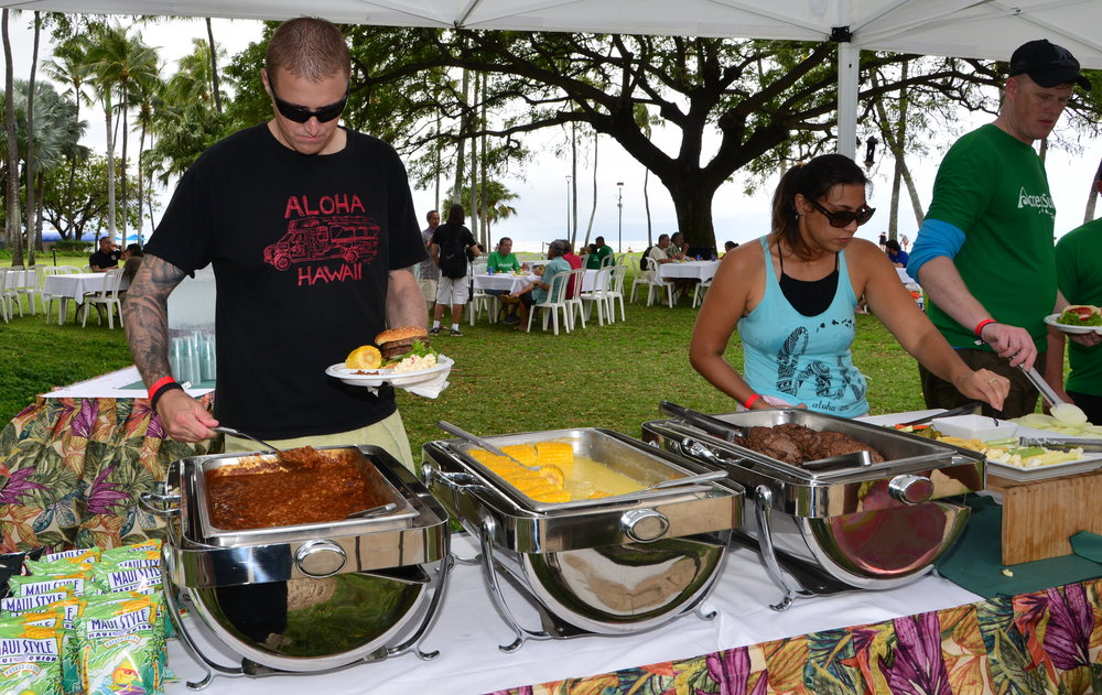 Lunch provided by Wounded Warrior Ohana.