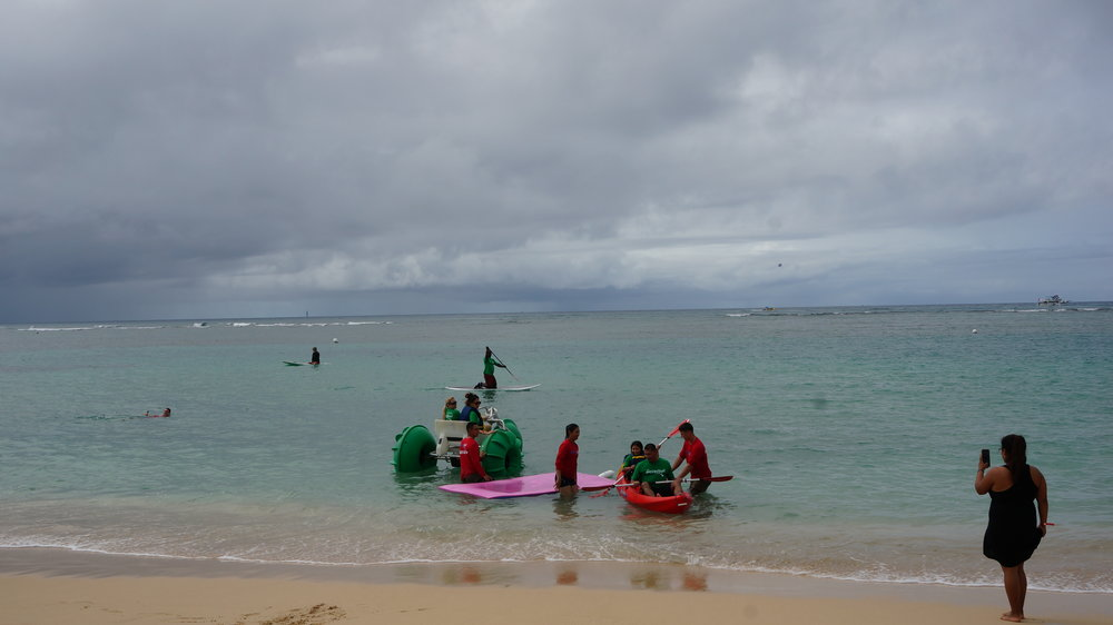 MAHALO to Koa Beach Service for providing Aqua Cycles, Paddleboards, Fun Island floats, Ocean Kayaks, Beach Lounge Chairs, Umbrellas, Boogie Boards and Mobi Wheelchair (floating adaptive wheelchair).