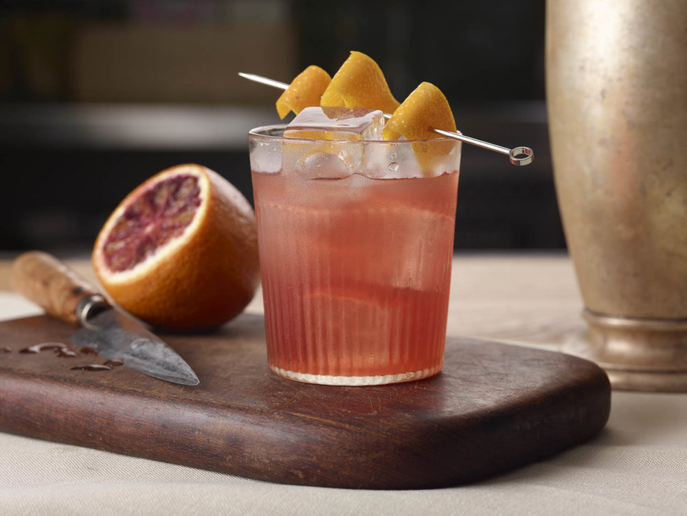DC Negroni - 1.25oz Capitoline Rosé1.25oz Capitoline Tiber1.25oz GinStir to chill and dilute. Garnish with orange peel.