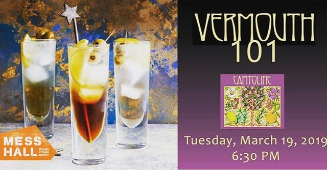 Curious about #vermouth and its history? Hungry for some dumplings? Join us at @messhalldc tomorrow 3/19 for Vermouth 101, a night dedicated to demystifying vermouth. The price of tickets includes 2 cocktails, a tasting of all Capitoline products, bites by @nomaddumplings, and some fun boozy education! Link in bio, we can't wait to see you!