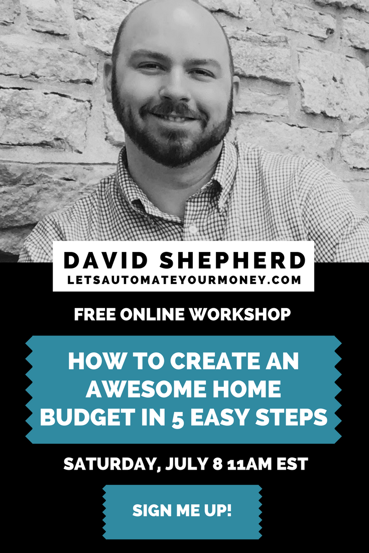 How to Create an Awesome Home Budget in 5 Easy Steps Live Workshop