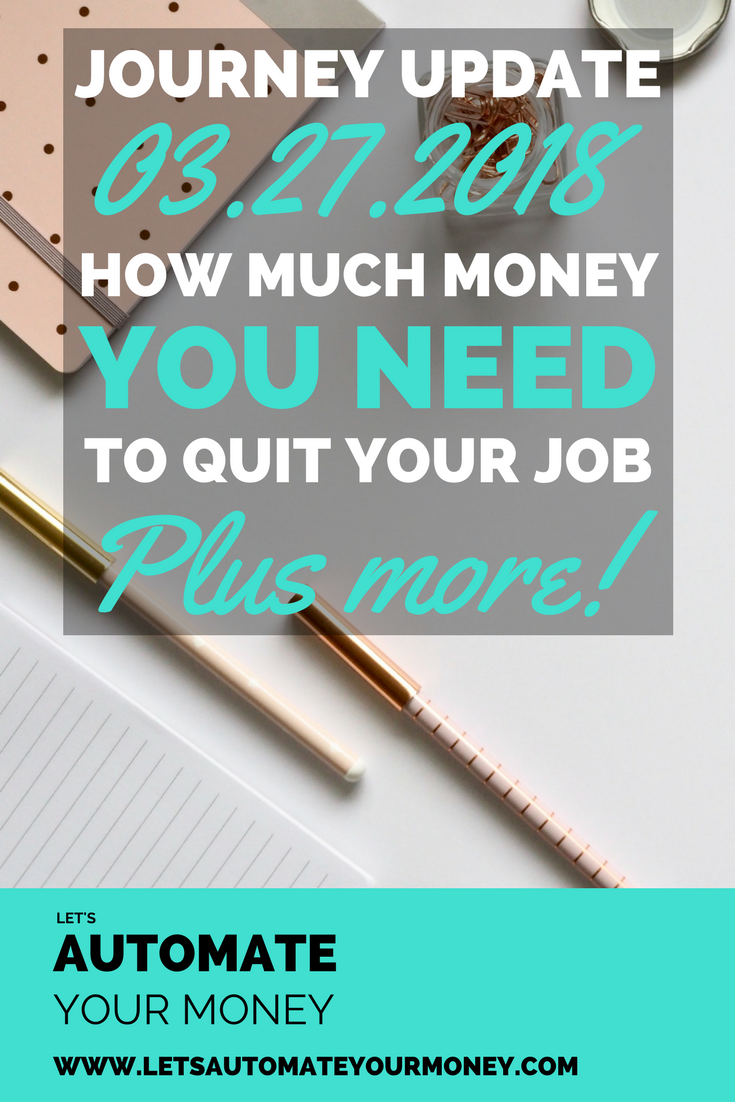 How much money do you need to quit your job?