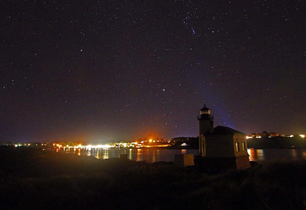 Bandon Light House Stary Night