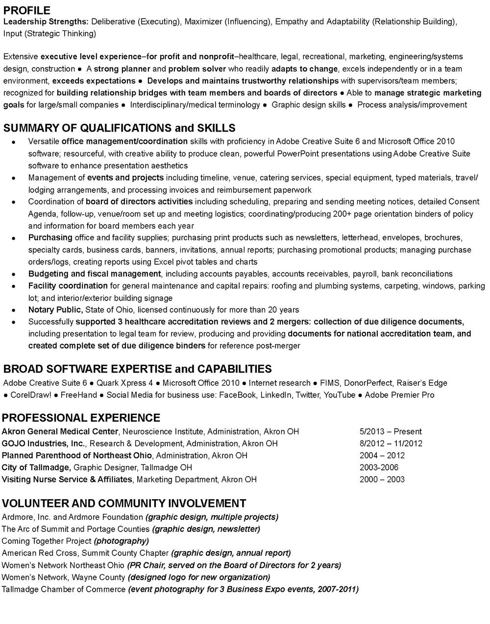 Resume — Jeannine Park Graphic Design