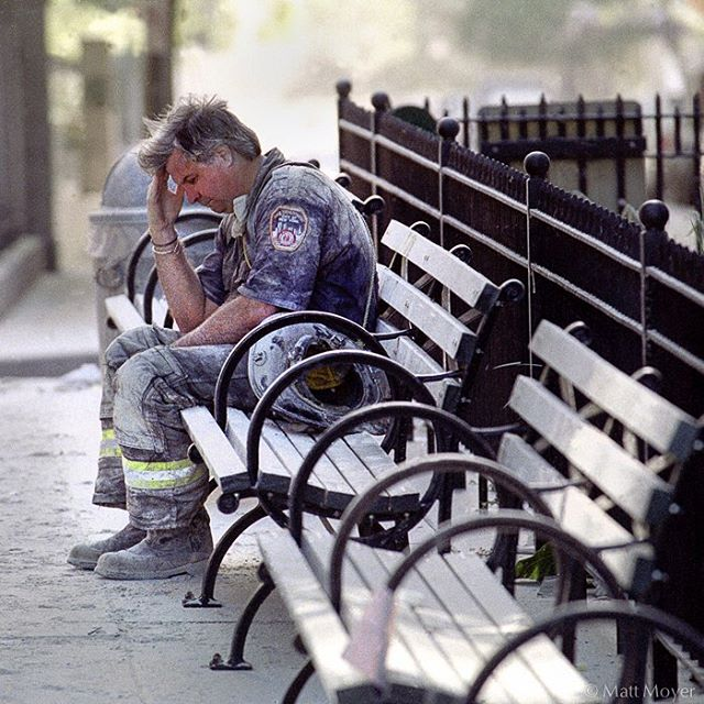 Fifteen years ago so many lives changed - I know mine did. It was such a terrible day but I was honored to have been able to photograph first responders like FDNY firefighter, Dan Potter and others as they struggled with an unprecedented disaster. We should never forget their courage. #9/11 #neverforget #NYC #FDNY