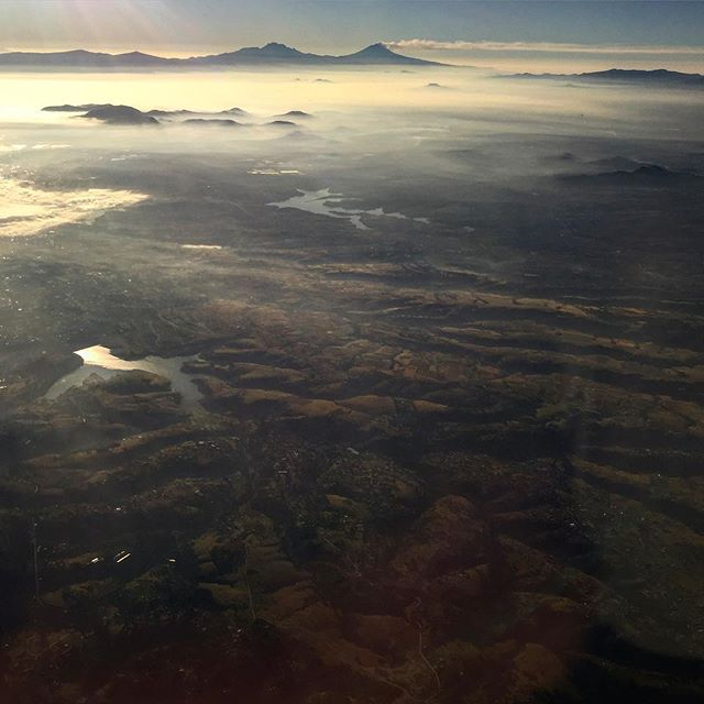 Flying over Oaxaca, Mexico. What a beautiful morning! #mexico #landscape #beauty
