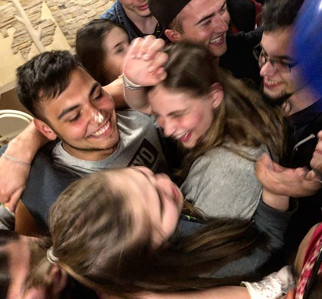 Group hug during the @ngphotocamp in Moldova. Loved teaching with @erikalarsen888 , @dominicbracco , Tony Ayigah, and Jessica Elfadl - follow @ngphotocamp to see some of the incredible student work! #friendsforlife