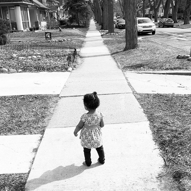 My girl started walking not too long ago. Her road stretches out before her. I will be behind her every step of the way. #afatherslove❤️ #firststeps