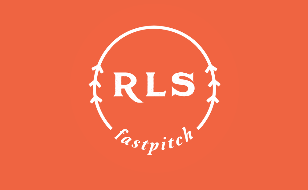 RLS FastPitch - softball logo and branding