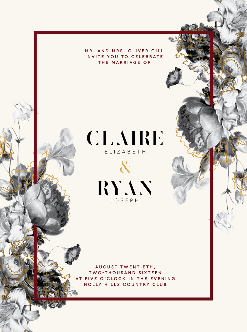 Modern Hollywood Wedding Invitations.jpg