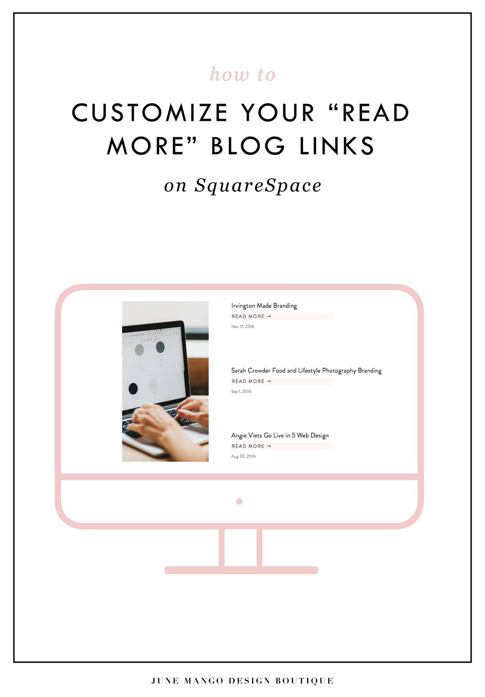 How to customize your read more blog link on squarespace blog