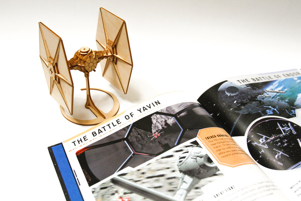 TIE Fighter IncrediBuilds and book