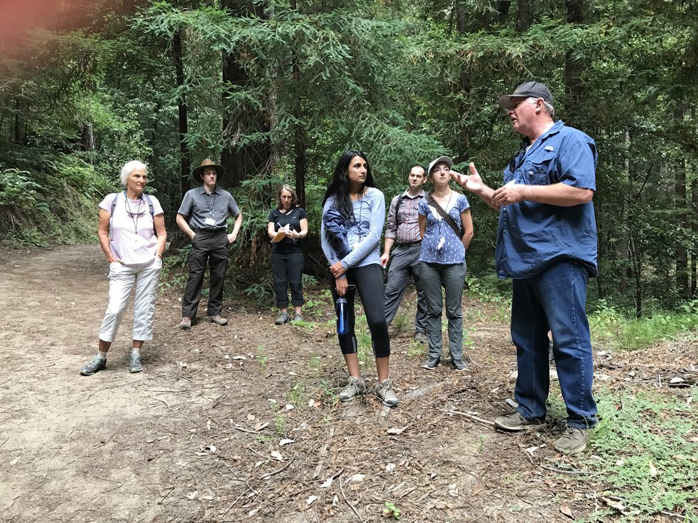 Bob Berlage from Big Creek Lumber explains the finer points of forestry. August 4th, 2017
