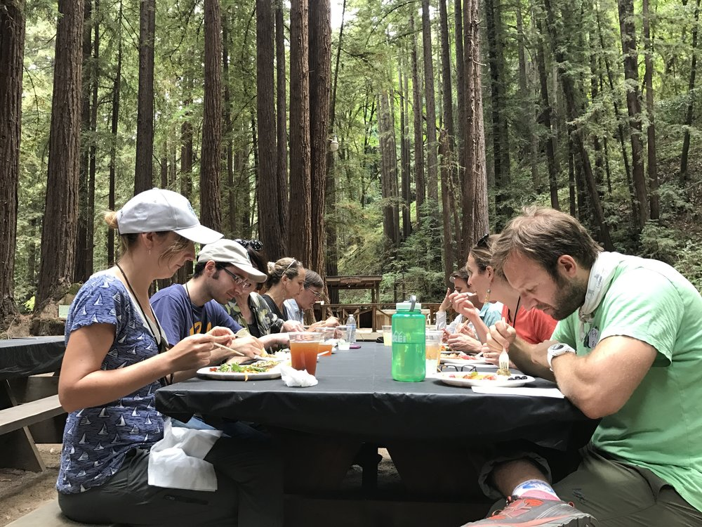 Lunch at Deer Camp at Estrada Ranch. August 4th, 2017.