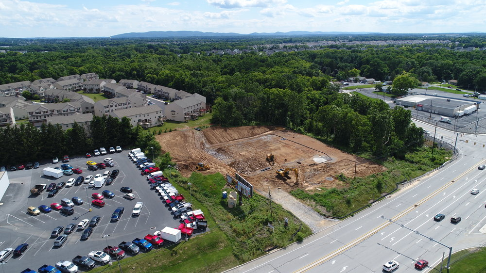 WCS is currently working on a Project located along the Carlisle Pike, next to the Ford Dealership. This site is the future home of a La-Z-Boy furniture gallery.