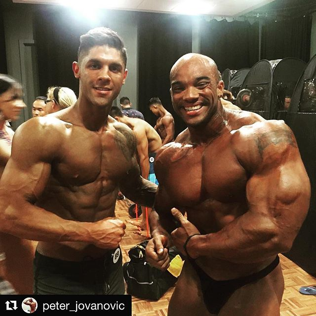 #FlashBackFriday to my first guest posing. So grateful for @tonydohertyoz flying me out to the OZ met some incredible people and now is my second home. #Repost @peter_jovanovic with @repostapp ・・・ Aesthetics vs massthetics @sergioolivajr what a unit and a pleasure to meet a champion like this man 🙏💪🏼
