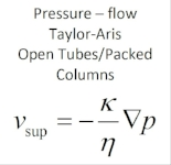 Excel Spreadsheet for Packed and Open Tube Flow, Taylor Aris, and Some Tubing Size Parameters