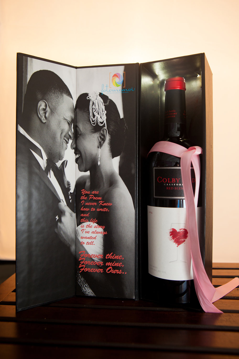 Custom Winebox with Wedding Vows