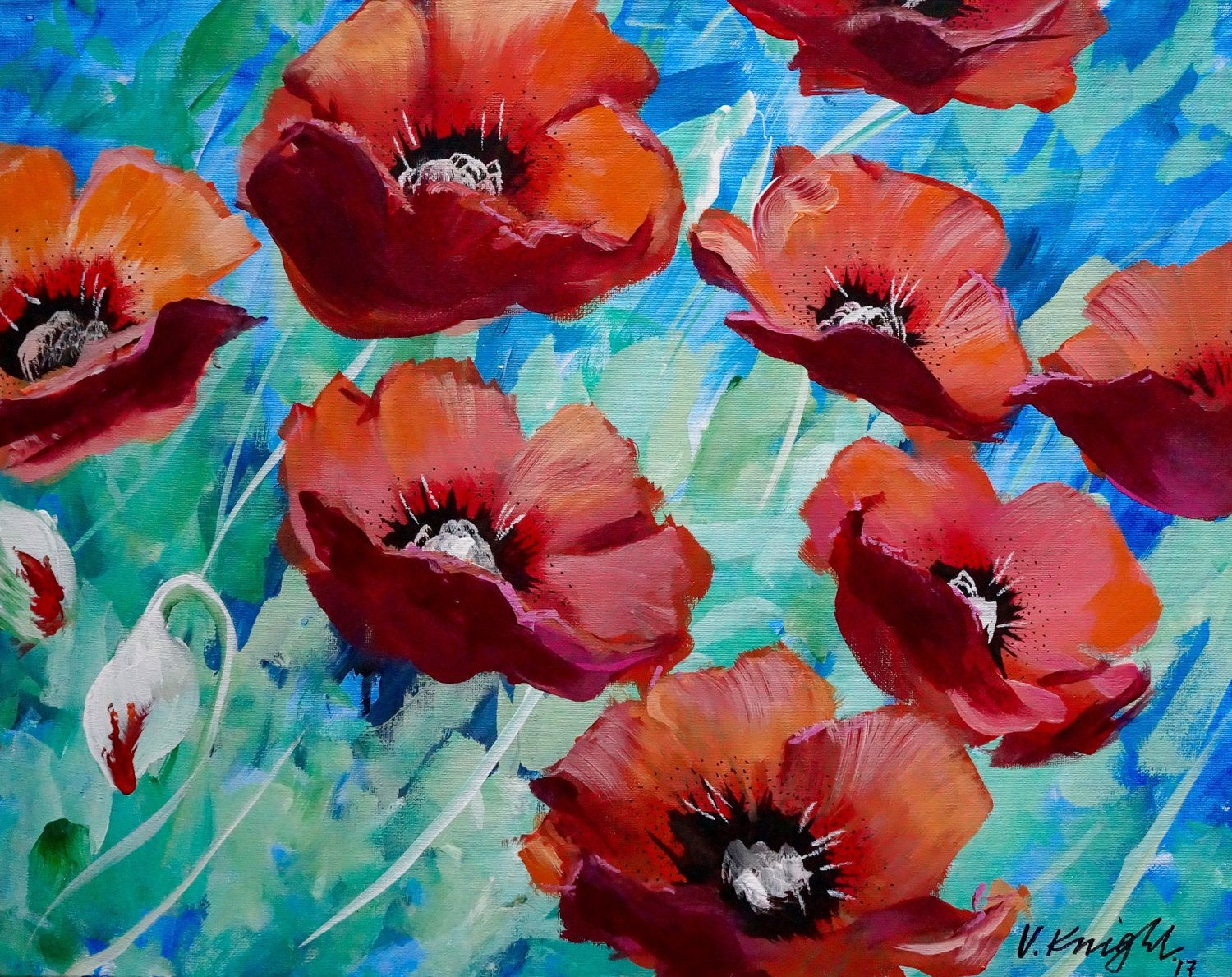Field Of Poppies Public Molalla Or Victoria Knight Paintings