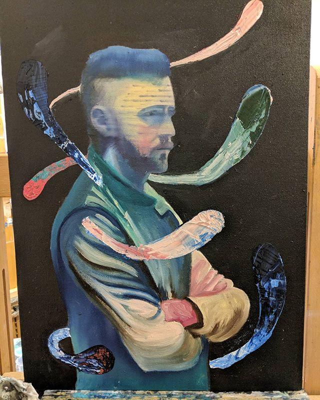 Study Adrian Grenie  #art #oilpainting #contemporaryart #adrianghenie #darwinism