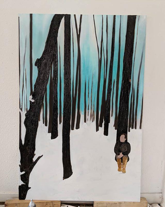 New painting #new #oilpainting #art #workinprogress #selfportrait