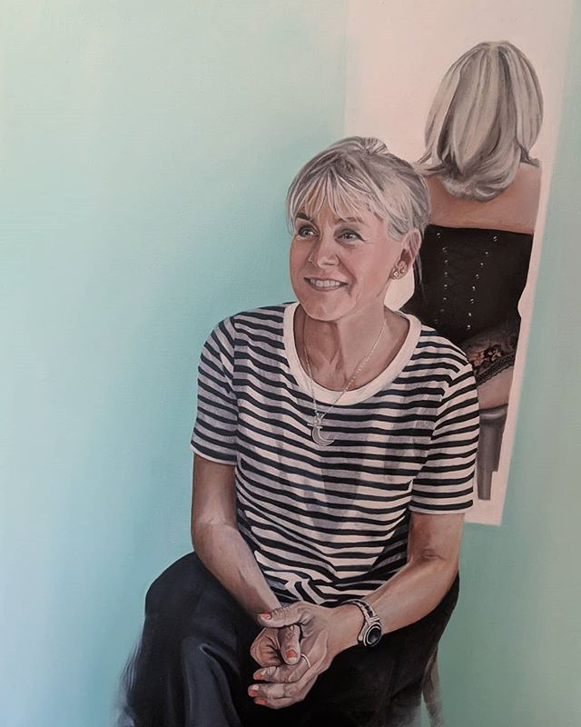 Latest work!  If only all paintings were as enjoyable to do as this one.  Thank you for asking me J & S XX  #portrait #oilpainting #contemporaryart #commission #friends