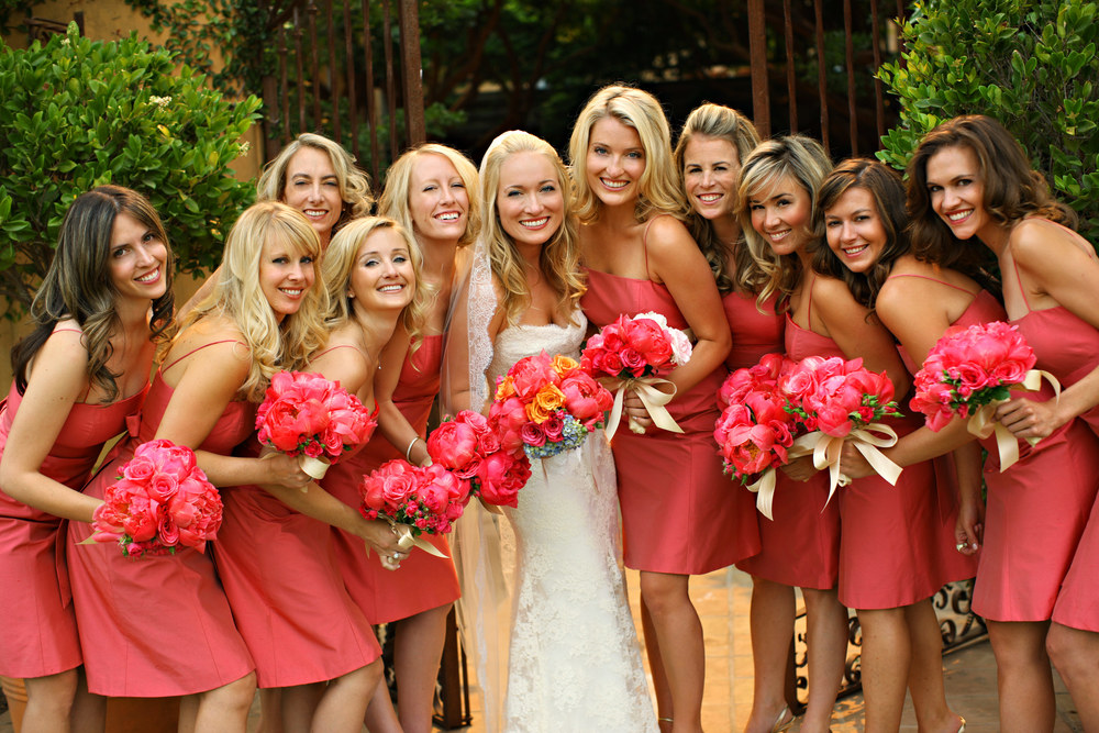 Marissa and her bridesmaids at the Santa Lucia Preserve, Carmel Valley, CA