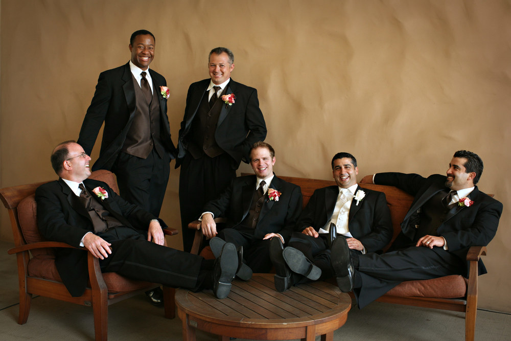 Anthony and his guys are working on their modeling careers at the Hyatt Huntington Beach.