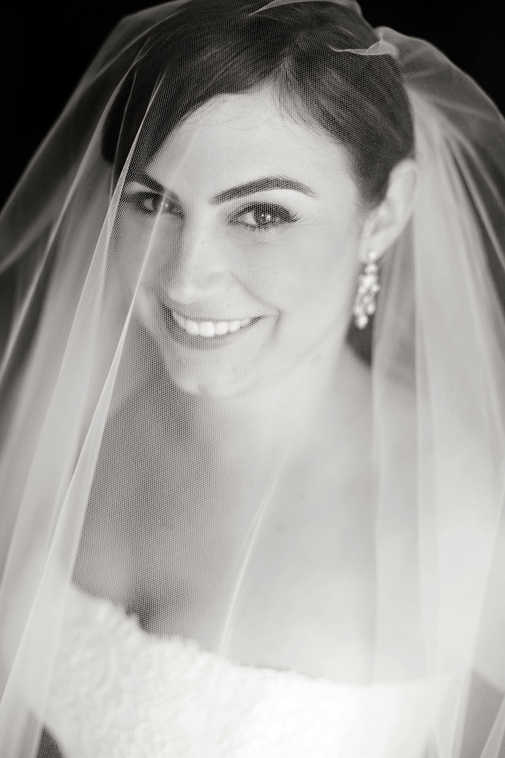 Nicole smiles for one last shot right before heading down the aisle at the Ritz Carlton Marina del Rey.