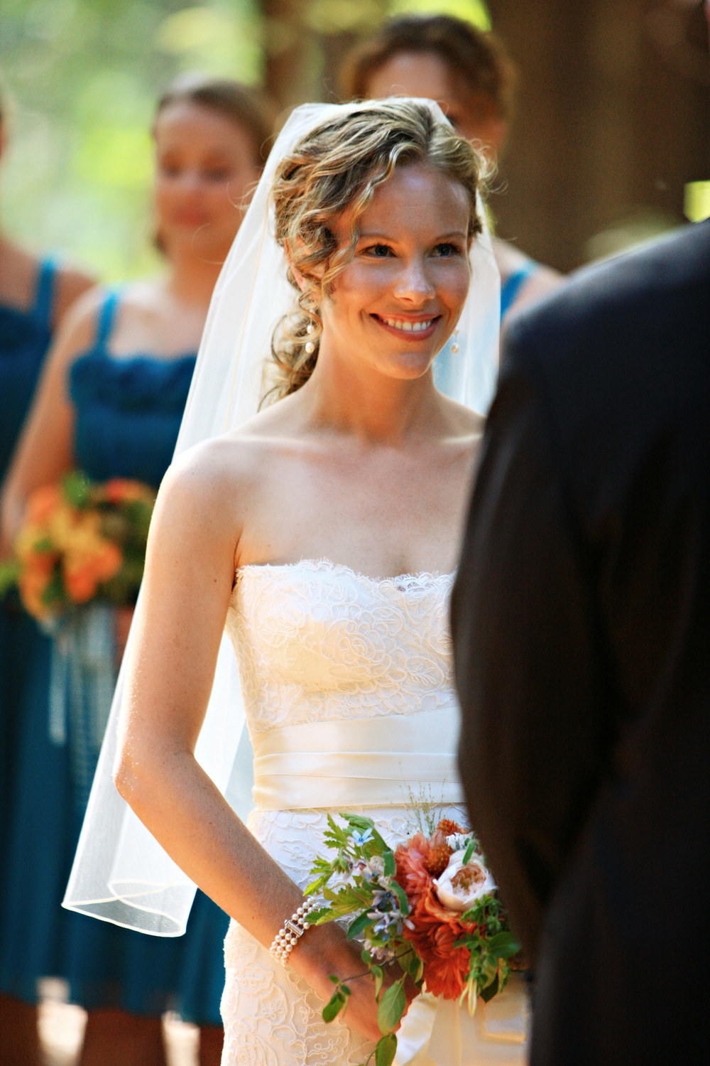 Megan loves listening to Scott recite his vows at the Santa Lucia Preserve.