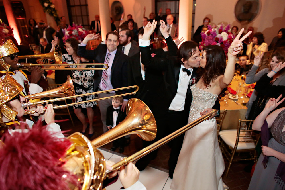 There's nothing like being serenaded by the USC marching band during your reception.
