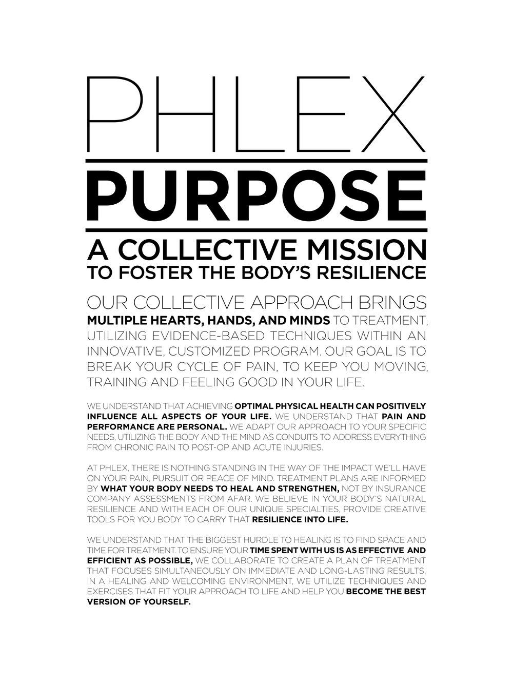 Purpose — PHLEX Health and Wellness Studio 190d6db92f
