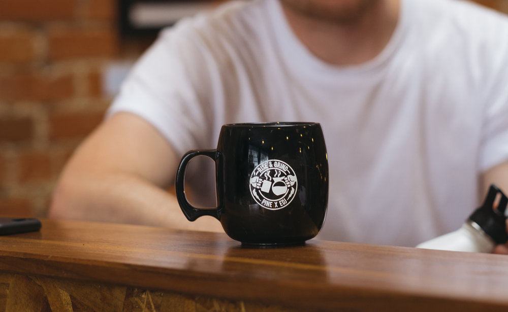 Everyday Joe's x Pine collaboration mugs