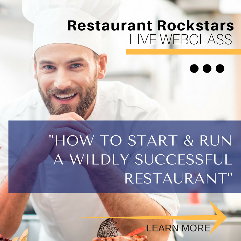 FREE WEBINAR - HOW TO START AND RUN A WILDLY SUCCESSFUL RESTAURANT