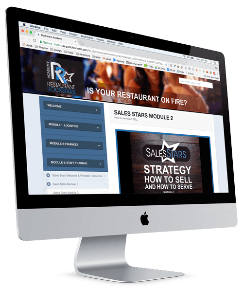 RESTAURANT ROCKSTARS ACADEMY MODULE 3