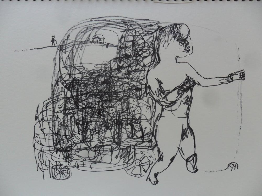 《现代罗汉图》#1纸本15x11英寸2010-2012.JPG