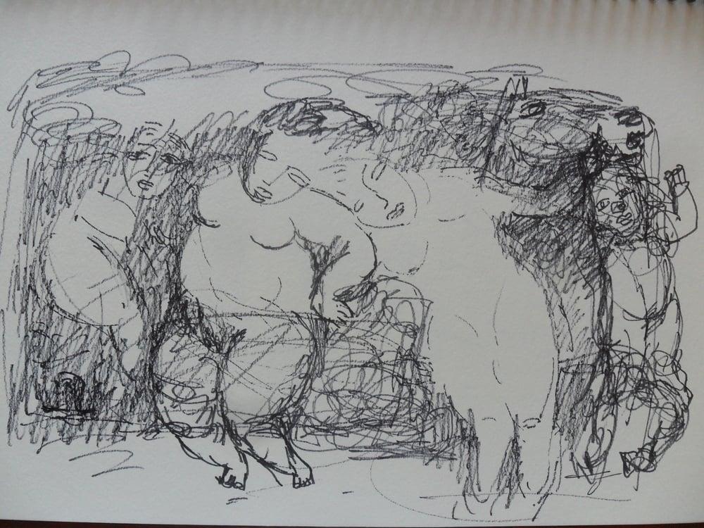 《现代罗汉图》#3纸本15x11英寸2010-2012.JPG