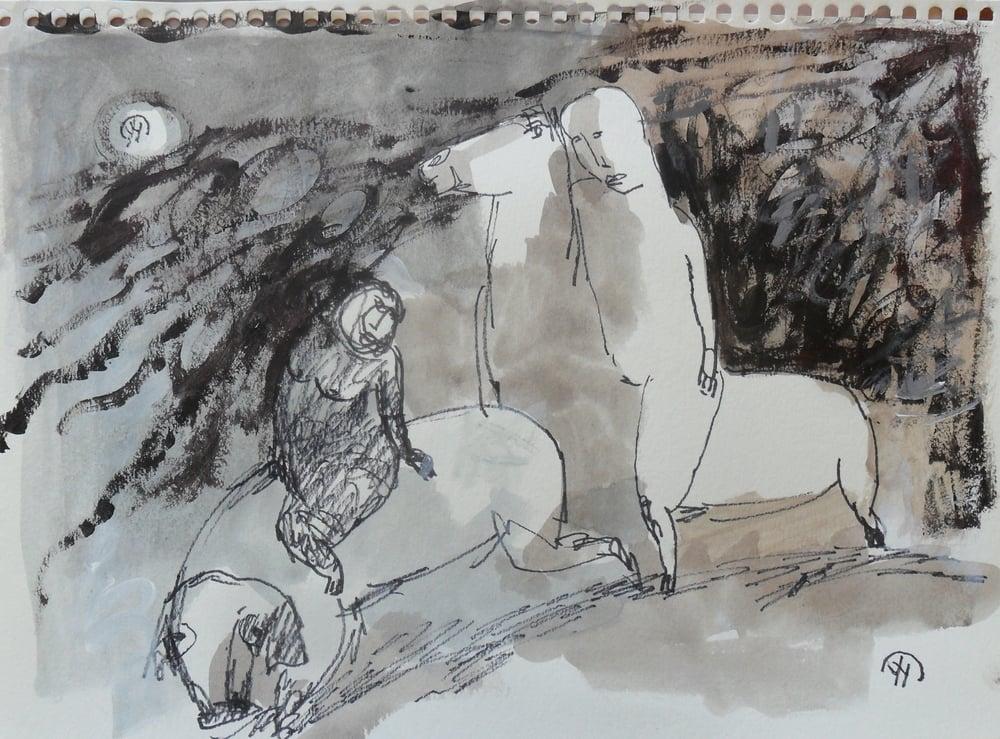 《现代罗汉图》#7纸本15x11英寸2010-2012.JPG
