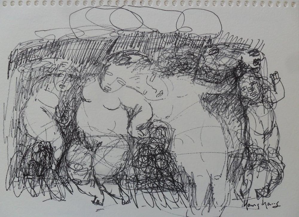 《现代罗汉图》#8纸本15x11英寸2010-2012.JPG