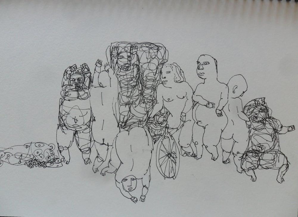 《现代罗汉图》#9纸本15x11英寸2010-2012.JPG