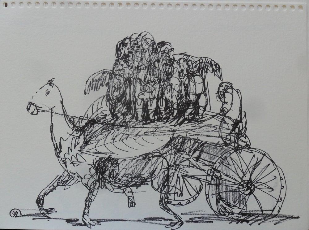 《现代罗汉图》#10纸本15x11英寸2010-2012.JPG
