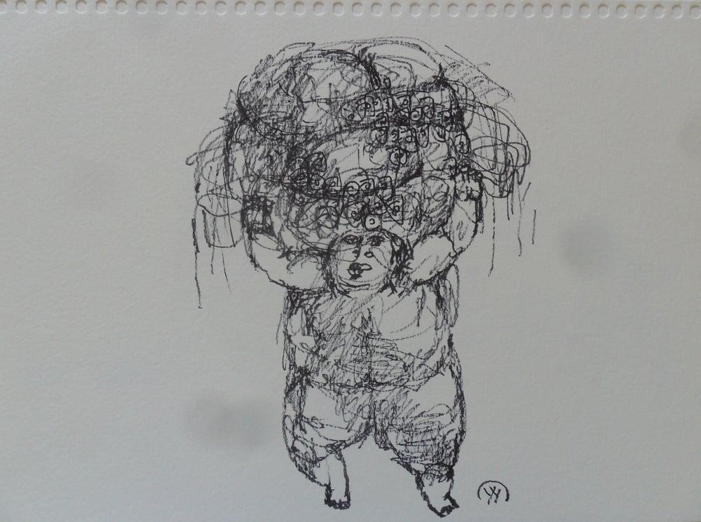 《现代罗汉图》#18纸本15x11英寸2010-2012.JPG