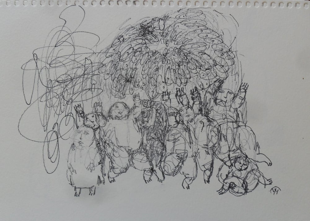 《现代罗汉图》#23纸本15x11英寸2010-2012.JPG