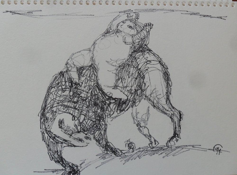 《现代罗汉图》#22纸本15x11英寸2010-2012.JPG