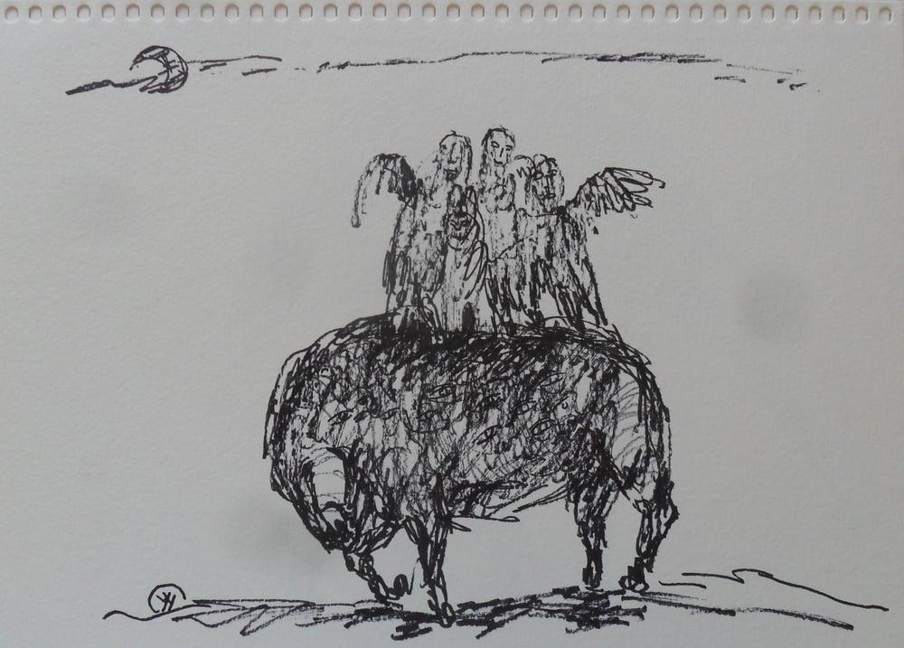 《现代罗汉图》#24纸本15x11英寸2010-2012.JPG