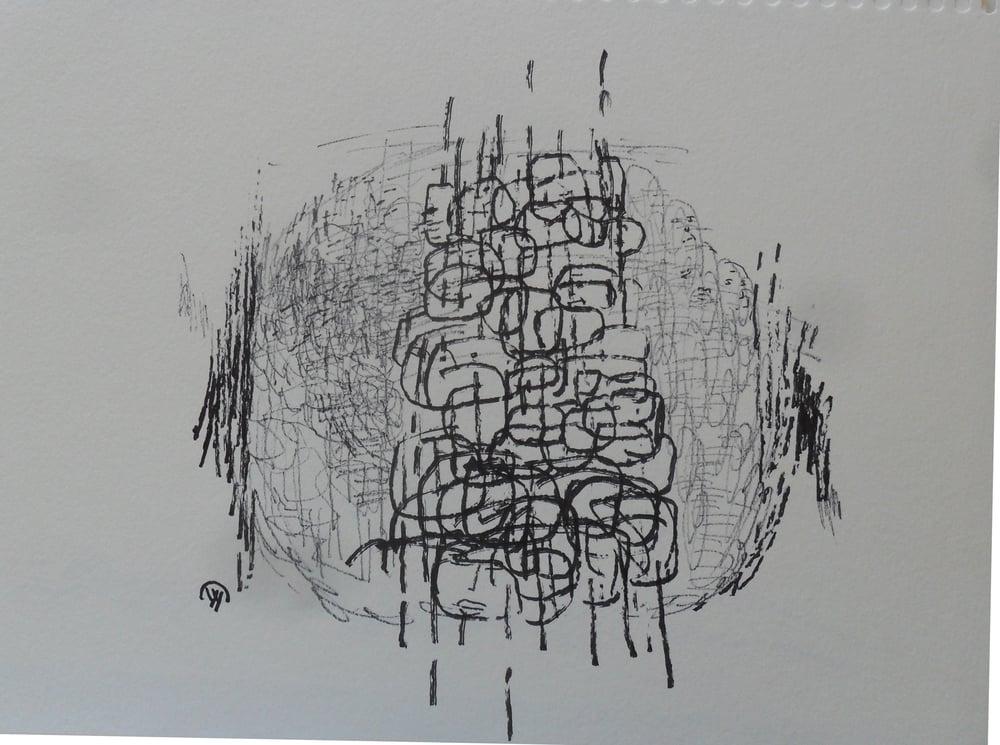 《现代罗汉图》#30纸本15x11英寸2010-2012.JPG