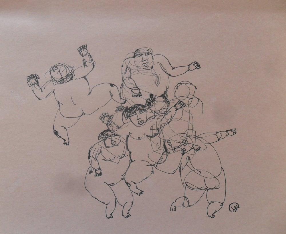 《现代罗汉图》#33纸本15x11英寸2010-2012.JPG
