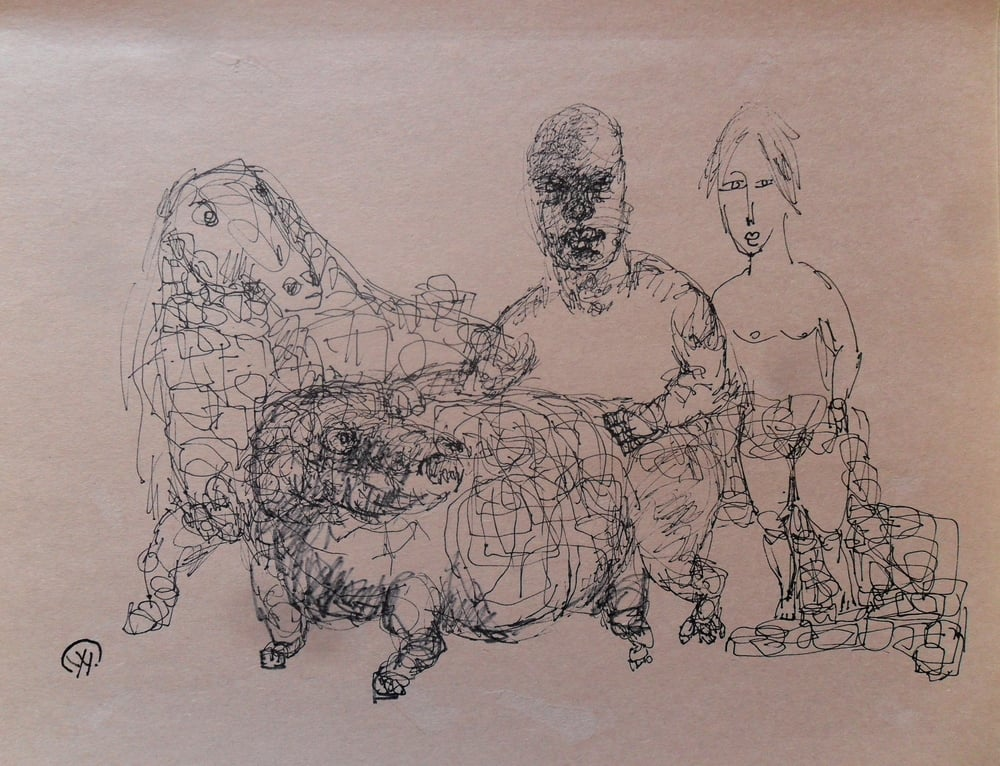 《现代罗汉图》#40纸本15x11英寸2010-2012.JPG