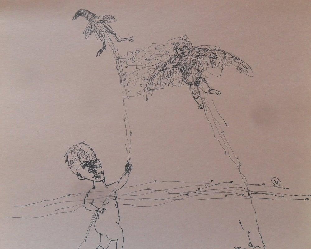 《现代罗汉图》#45纸本15x11英寸2010-2012.JPG