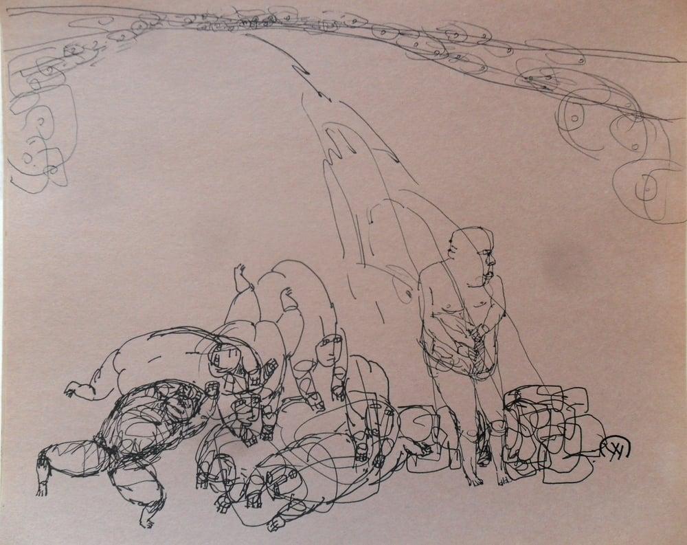《现代罗汉图》#47纸本15x11英寸2010-2012.JPG
